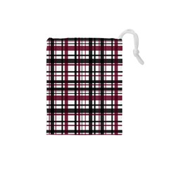 Plaid Pattern Drawstring Pouches (small)  by ValentinaDesign