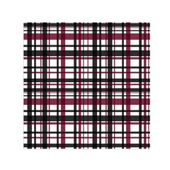 Plaid Pattern Small Satin Scarf (square) by ValentinaDesign