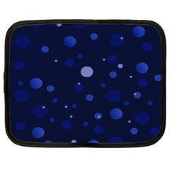 Decorative Dots Pattern Netbook Case (xl)  by ValentinaDesign