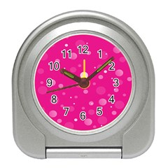 Decorative Dots Pattern Travel Alarm Clocks by ValentinaDesign