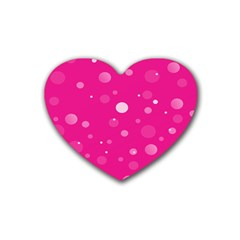 Decorative Dots Pattern Rubber Coaster (heart)  by ValentinaDesign