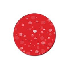 Decorative Dots Pattern Rubber Coaster (round)  by ValentinaDesign