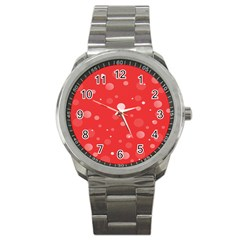 Decorative Dots Pattern Sport Metal Watch by ValentinaDesign