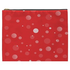 Decorative Dots Pattern Cosmetic Bag (xxxl)  by ValentinaDesign