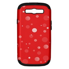 Decorative Dots Pattern Samsung Galaxy S Iii Hardshell Case (pc+silicone)