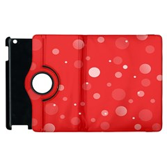 Decorative Dots Pattern Apple Ipad 2 Flip 360 Case by ValentinaDesign