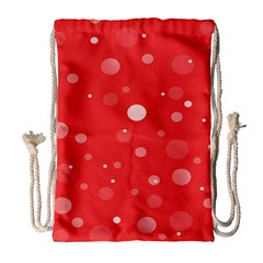 Decorative Dots Pattern Drawstring Bag (large) by ValentinaDesign