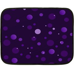 Decorative Dots Pattern Fleece Blanket (mini) by ValentinaDesign