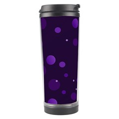 Decorative Dots Pattern Travel Tumbler by ValentinaDesign