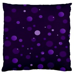 Decorative Dots Pattern Large Flano Cushion Case (two Sides) by ValentinaDesign