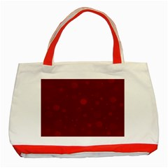 Decorative Dots Pattern Classic Tote Bag (red) by ValentinaDesign