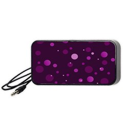 Decorative Dots Pattern Portable Speaker (black) by ValentinaDesign