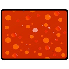 Decorative Dots Pattern Double Sided Fleece Blanket (large)  by ValentinaDesign