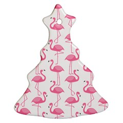 Pink Flamingos Pattern Christmas Tree Ornament (two Sides)