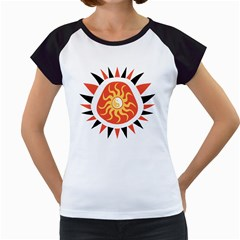 Yin Yang Sunshine Women s Cap Sleeve T by linceazul