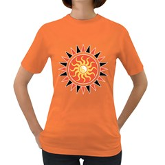 Yin Yang Sunshine Women s Dark T Shirt by linceazul