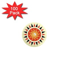 Yin Yang Sunshine 1  Mini Magnets (100 Pack)  by linceazul