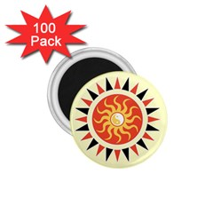 Yin Yang Sunshine 1 75  Magnets (100 Pack)  by linceazul