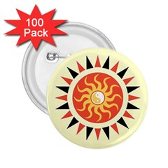 Yin Yang Sunshine 2 25  Buttons (100 Pack)  by linceazul