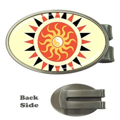 Yin Yang Sunshine Money Clips (oval)  by linceazul