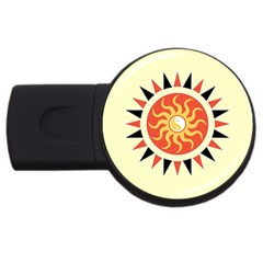 Yin Yang Sunshine Usb Flash Drive Round (4 Gb) by linceazul