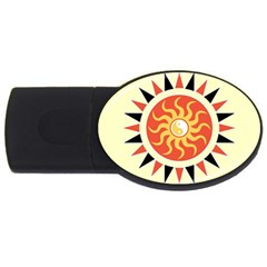 Yin Yang Sunshine Usb Flash Drive Oval (4 Gb) by linceazul