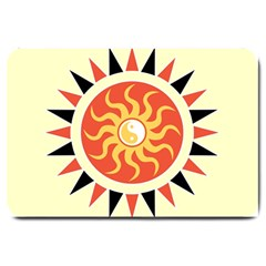 Yin Yang Sunshine Large Doormat  by linceazul