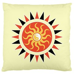 Yin Yang Sunshine Large Cushion Case (one Side) by linceazul