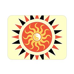 Yin Yang Sunshine Double Sided Flano Blanket (mini)  by linceazul