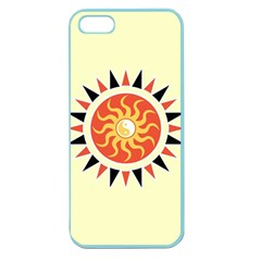 Yin Yang Sunshine Apple Seamless Iphone 5 Case (color) by linceazul