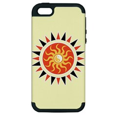Yin Yang Sunshine Apple Iphone 5 Hardshell Case (pc+silicone) by linceazul