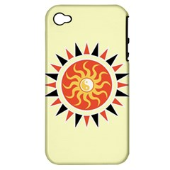 Yin Yang Sunshine Apple Iphone 4/4s Hardshell Case (pc+silicone) by linceazul