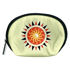 Yin Yang Sunshine Accessory Pouches (medium)  by linceazul