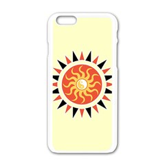 Yin Yang Sunshine Apple Iphone 6/6s White Enamel Case by linceazul
