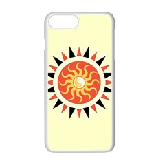 Yin Yang Sunshine Apple Iphone 7 Plus White Seamless Case by linceazul
