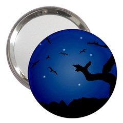 Nightscape Landscape Illustration 3  Handbag Mirrors by dflcprints