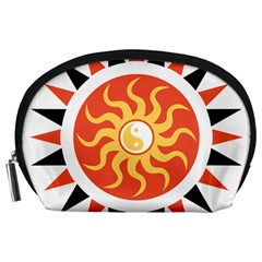 Yin Yang Sunshine Accessory Pouches (large)  by linceazul