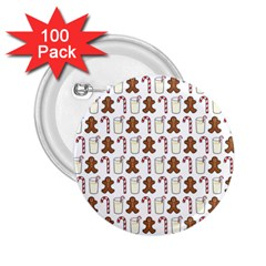 Christmas Trio Pattern 2 25  Buttons (100 Pack)  by Nexatart