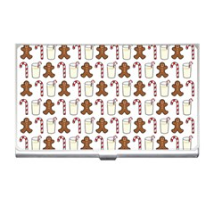 Christmas Trio Pattern Business Card Holders by Nexatart