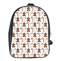 Christmas Trio Pattern School Bags(large)  by Nexatart