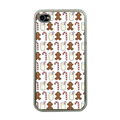 Christmas Trio Pattern Apple Iphone 4 Case (clear)