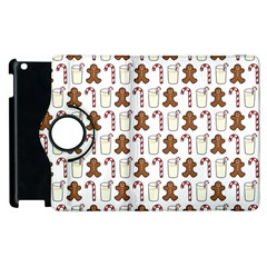 Christmas Trio Pattern Apple Ipad 2 Flip 360 Case by Nexatart