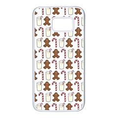 Christmas Trio Pattern Samsung Galaxy S7 White Seamless Case