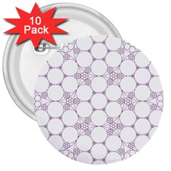 Density Multi Dimensional Gravity Analogy Fractal Circles 3  Buttons (10 Pack)