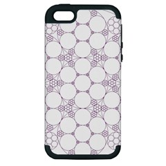 Density Multi Dimensional Gravity Analogy Fractal Circles Apple Iphone 5 Hardshell Case (pc+silicone) by Nexatart