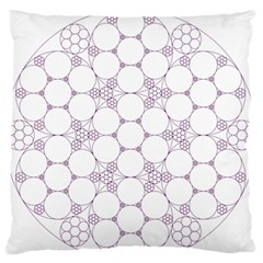Density Multi Dimensional Gravity Analogy Fractal Circles Large Flano Cushion Case (two Sides) by Nexatart