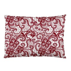 Transparent Lace With Flowers Decoration Pillow Case by Nexatart