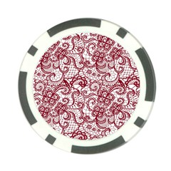 Transparent Lace With Flowers Decoration Poker Chip Card Guard (10 Pack) by Nexatart