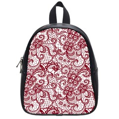 Transparent Lace With Flowers Decoration School Bags (small)  by Nexatart