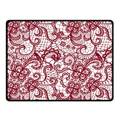 Transparent Lace With Flowers Decoration Fleece Blanket (small)